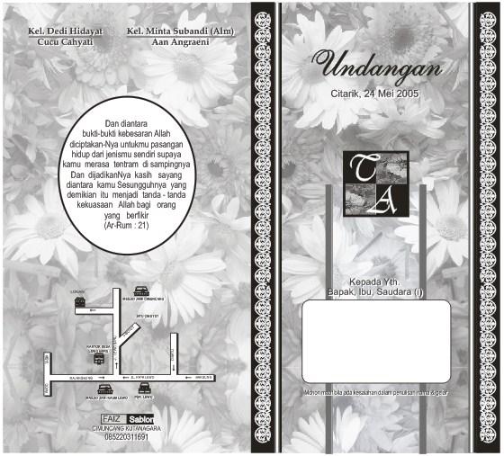 desain undangan pernikahan hitam putih | Ekkiyalkhahiri
