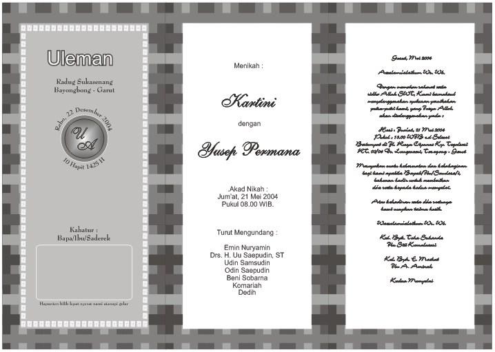 Desain Undangan Pernikahan Hitam Putih 6
