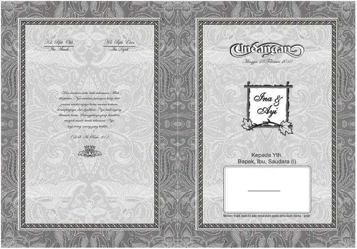Desain Undangan Pernikahan Hitam Putih 9